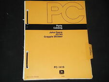 JOHN DEERE JD740 740 GRAPPLE SKIDDER PARTS MANUAL BOOK PC-1419
