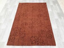 INDIAN FLORAL HAND TUFTED,100% WOOL RUG, 2.35 x 1.56M, BROWN