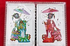 Vintage Stancraft Playing Cards Geisha Artwork Sealed