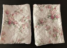 Simply Shabby Chic Pair 2 Quilted Blooming Blossoms Shams Pink Floral Standard
