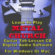 METAL CHURCH Guitar Tab Lesson CD Software -17 Songs
