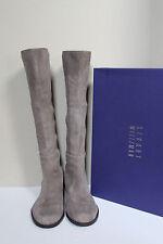 sz 5.5 M Stuart Weitzman Half N Half 50/50 Knee High Tan Suede Flat Boot Shoes
