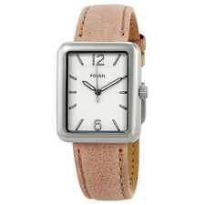 Fossil Atwater White Dial Ladies Sand-tone Leather Watch ES4243