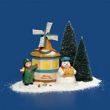 Dept 56 Snow Village THE WINDMILL WISHING WELL NIB