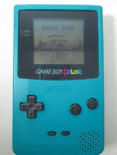 Nintendo Game Boy Color Teal Console Handheld Protective Skin Case & Cartridge
