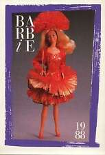 """Barbie Collectible Fashion Card """" Private Collection Fashions """" 1988"""