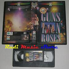 VHS GUNS N' ROSES ITALY EDEN VIDEO  EV-GUN 60 MINUTI AXL Slash no cd lp dvd(VM7)