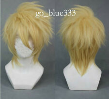 TT323 AMNESIA Toma Straight Blonde Short Cosplay Party Fluffy style wig