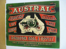 Austral Kerosene Oil Engines Metal Sign (WAR001)