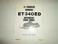1980 Yamaha Snowmobile ET340ED Supplementary Service Manual FACTORY OEM BOOK 80