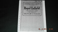 Royal Enfield 1951-53 350 Bullet and 500 Bullet Instruction Book 56-00174 [3-75]