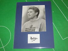 Portsmouth Manager Alan Ball Signed 1987 Original Press Photograph Mount