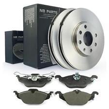 Sistema de Frenos para 4-agujeros Llanta Opel Astra G Discos + Pastillas