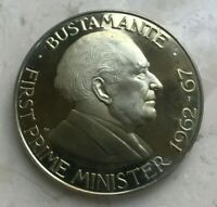 1972 Jamaica 1 One Dollar Proof - Bustamante