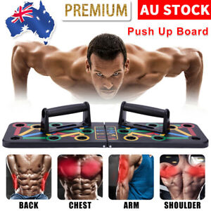 14 in1 Push Up Board Rack System Workout Fitness Train Gym Exercise Sports Stand