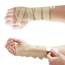 Beige Elastic Wrist Support Splint Brace - Carpal Tunnel RSI Arthritis Strain Medium Left