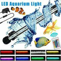 Aquarium Fish Tank RGB Air Bubble(Optional) LED Light Submersible Bar Strip Lamp