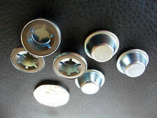 "STAR LOCK END CAPS - 10mm / 7/16"" - VINTAGE PRAM, GO KART, TRIKE, PEDAL CAR"