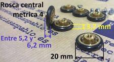 6 RUEDAS DE MAMPARA 20 mm (tenemos rodamientos para ventanas) rueda rodamiento