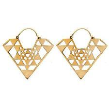Orecchini di bigiotteria pendenti in oro ottone