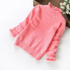 Autumn Winter Warm Baby Girl Kids Toddler Knite Sweater Pullover Tops Clothes