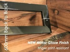 BLACK STAINLESS MIRROR GLAZE ENTRY FRONT DOOR PULL HANDLE 600MM - back to back