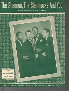 Shannon The Shamrocks and You 1951 The Mariners Sheet Music
