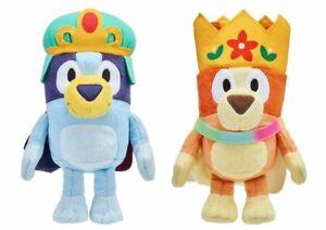 "Bluey PRINCESS BLUEY QUEEN BINGO Plush CROWN SET 7"" Soft Toy Stuffed Animal"