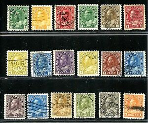 LOT 48048 USED 104 - 122 : KING GEORGE V  ADMIRAL ISSUE