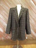Casablanca Blazer Suit Jacket Size 10 Black Lined