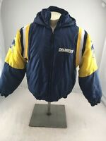 VTG 90s NFL Chargers Winter Puffy Embroidered Jacket Size Youth X-Large XL