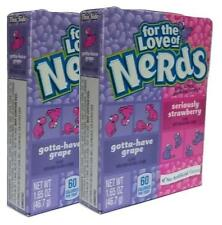2x Nestle For The Love Of Grape And Strawberry Nerds 46.7g American Sweets - New