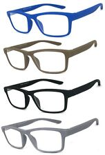 2 or 3 Pairs Square Frame Reading Glasses Spring Hinges Temples Rubberized Touch