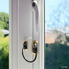 Gold Lockable Window Security Cable Wire Door Restrictor Child Safety upvc lock