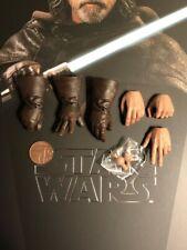 Hot Toys Star Wars TLJ Luke Skywalker MMS458 Hands x 6 loose 1/6th scale
