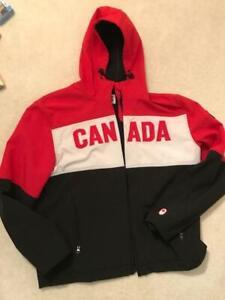 Team Canada 2014 Sochi Olympics Hudson's Bay men's XL soft shell podium jacket