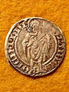 OSTERFRIESLAND SAXONY GOLD DUCAT EDGARD II 1491-1528 VF+ VERY SCARCE