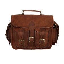Genuine Real Leather Camera Lens Shoulder Handbag DSLR Sony Canon Nikon Bag