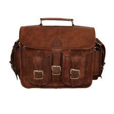 Genuine Real Leather Camera Lens Shoulder Handbag DSLR Sony Canon Nikon Bag