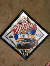 Vintage Man Cave Bar Mirror Rusty Wallace Miller Racing Collectable Nascar Lite