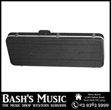 Electric Guitar Rectangular Hard Case ABS Strat Tele Shaped Black