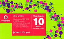 *3236 SCHEDA RICARICA USATA VODAFONE POWER 10 31 12 2019 OCR 30 CAB 27