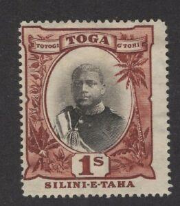 Tonga Sc. #49 1sh MH    'George II'   Wmk. 79   1897-1934