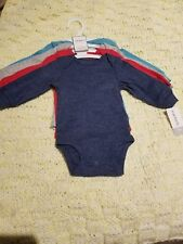 Carter's Baby Boy Body Suits Set Of 4 LONG SLEEVES♡size 3 Months♡NWT