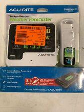 ACURITE 13043 Backyard Weather Forecaster with Wireless Sensor, Alarm Clock, USB
