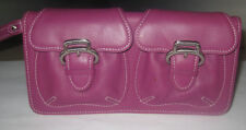 Cole Haan Purple Leather Snap Closure Wristlet Wallet