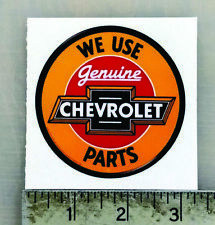 Vintage Genuine Chevrolet Parts sticker decal 3""