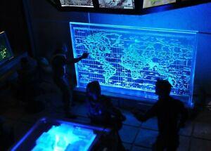 1:12 Scale Action Figure Diorama, Strategic Command Center World Map, Accessory