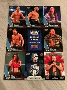 NYCC 2021 AEW UPPER DECK EXCLUSIVE FIRST EDITION UNCUT CARD SHEET Sting MINT