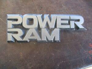 81-93 DODGE RAM W100 W150 W250 POWER RAM FENDER EMBLEM OEM